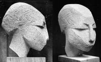 1964, «Женский портрет» 27х13х24, бетон
