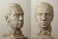 1990-1992, 1999 «Портрет Л.И.Абалкина, 42x24x30, гипс