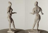 Танец I, 27 см, гипс