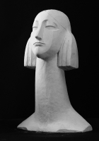 2000 Античная сюита XI «Голова Мойры II» 28х7х6, гипс
