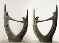 1997 Античная сюита X. Орфей и Эвридика, 57,5х36,5х11, крашеный гипс