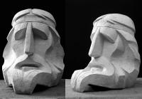 1998 Античная сюита I. «Рапсод» («Гомер») 27х23х30, гипс