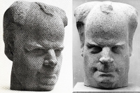 1961 «Портрет Сергея Эйзенштейна» 60х38х38, бетон