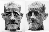 1961 «Портрет писателя Халлдора Лакснесса» (эскиз) 53х38х43, бетон (Посольство Исландии - бронза)
