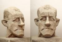 1961 «Портрет писателя Халлдора Лакснесса» (эскиз) 53х38х43, гипс (Посольство Исландии - бронза)
