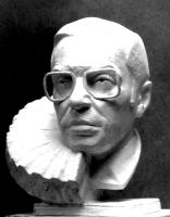1990-1992, 1999 «Портрет Л.И.Абалкина»  42x24x30, гипс