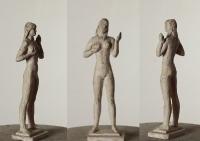Стоящая девушка (эскиз), 25 см, гипс
