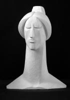 2000 Античная сюита XI «Голова Мойры III» 28х7х6, гипс