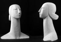 2000 Античная сюита XI «Голова Мойры I» 28х7х6, гипс