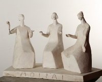 1999 Античная сюита XI, Мойры - богини судьбы, 29,5х49х25