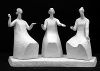 2000 Античная сюита. «Мойры - богини судьбы», 29,5х49х25, гипс